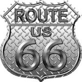 Route 66 Diamond Highway Shield Wholesale Novelty Metal Magnet