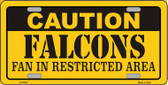 Caution Falcons Wholesale Metal Novelty License Plate LP-2535