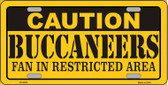 Caution Buccaneers Wholesale Metal Novelty License Plate LP-2536