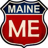 Maine Highway Shield Wholesale Novelty Metal Magnet