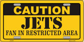 Caution Jets Wholesale Metal Novelty License Plate LP-2537