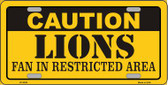 Caution Lions Wholesale Metal Novelty License Plate LP-2538
