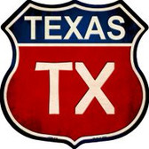 Texas Highway Shield Novelty Metal Magnet