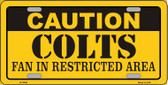 Caution Colts Wholesale Metal Novelty License Plate LP-2540