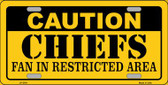 Caution Chiefs Wholesale Metal Novelty License Plate LP-2541
