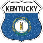 Kentucky State Flag Highway Shield Novelty Metal Magnet