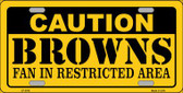 Caution Browns Wholesale Metal Novelty License Plate LP-2542