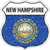 New Hampshire State Flag Highway Shield Novelty Metal Magnet
