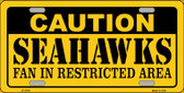 Caution Seahawks Wholesale Metal Novelty License Plate LP-2543
