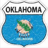 Oklahoma State Flag Highway Shield Novelty Metal Magnet