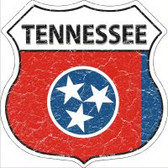 Tennessee State Flag Highway Shield Novelty Metal Magnet