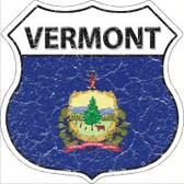 Vermont State Flag Highway Shield Novelty Metal Magnet