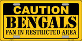 Caution Bengals Wholesale Metal Novelty License Plate LP-2546