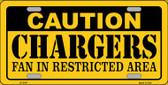 Caution Chargers Wholesale Metal Novelty License Plate LP-2547