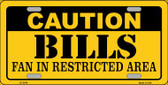 Caution Bills Wholesale Metal Novelty License Plate LP-2548