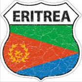 Eritrea Flag Highway Shield Novelty Metal Magnet