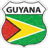 Guyana Flag Highway Shield Novelty Metal Magnet