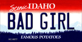 Bad Girl Idaho State Background Wholesale Metal Novelty Key Chain