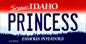 Princess Idaho State Background Wholesale Metal Novelty Key Chain KC-9879