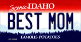 Best Mom Idaho State Background Wholesale Metal Novelty Key Chain
