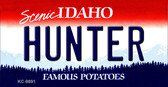 Hunter Idaho State Background Wholesale Metal Novelty Key Chain