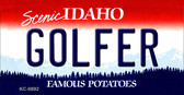 Golfer Idaho State Background Wholesale Metal Novelty Key Chain KC-9892