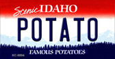 Potato Idaho State Background Wholesale Metal Novelty Key Chain