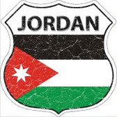 Jordan Flag Highway Shield Novelty Metal Magnet