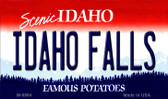Idaho Falls Idaho State Background Wholesale Metal Novelty Magnet