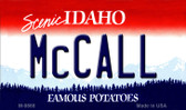 McCall Idaho State Background Wholesale Metal Novelty Magnet