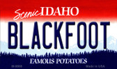 Blackfoot Idaho State Background Wholesale Metal Novelty Magnet M-9869