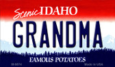 Grandma Idaho State Background Wholesale Metal Novelty Magnet