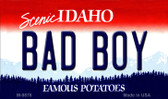 Bad Boy Idaho State Background Wholesale Metal Novelty Magnet
