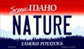 Nature Idaho State Background Wholesale Metal Novelty Magnet M-9878