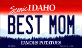Best Mom Idaho State Background Wholesale Metal Novelty Magnet