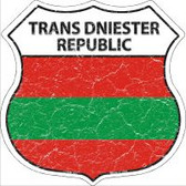 Trans Dniester Republic Flag Highway Shield Novelty Metal Magnet