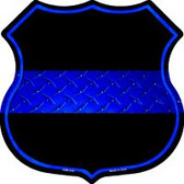 Thin Blue Line Highway Shield Novelty Metal Magnet