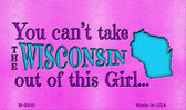 Wisconsin Girl Novelty Wholesale Metal Magnet