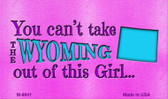 Wyoming Girl Novelty Wholesale Metal Magnet