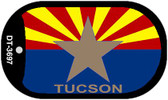"Tucson Arizona State Flag Dog Tag Kit 2"" Wholesale Metal Novelty Necklace"