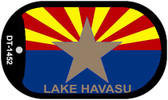 "Lake Havasu Arizona State Flag Dog Tag Kit 2"" Wholesale Metal Novelty Necklace"
