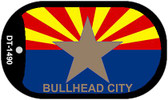 "Bullhead City Arizona State Flag Dog Tag Kit 2"" Wholesale Metal Novelty Necklace"