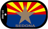 "Sedona Arizona State Flag Dog Tag Kit 2"" Wholesale Metal Novelty Necklace"