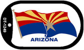 "Arizona Waving State Flag Dog Tag Kit 2"" Wholesale Metal Novelty Necklace"