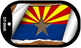 "Arizona State Flag Scroll Dog Tag Kit 2"" Wholesale Metal Novelty Necklace"
