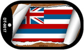 "Hawaii State Flag Scroll Dog Tag Kit 2"" Wholesale Metal Novelty Necklace"