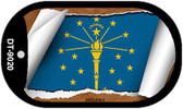 "Indiana State Flag Scroll Dog Tag Kit 2"" Wholesale Metal Novelty Necklace"