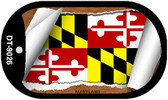 "Maryland State Flag Scroll Dog Tag Kit 2"" Wholesale Metal Novelty Necklace"