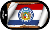 "Missouri State Flag Scroll Dog Tag Kit 2"" Wholesale Metal Novelty Necklace"