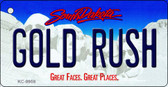 Gold Rush South Dakota Background Metal Novelty Wholesale Key Chain